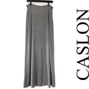 CASLON gray maxi skirt